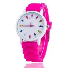 Vansvar Brand Hot Selling Fashion Candy Color Silicone Quartz Watch Women Wrist Watch Relogio Feminino Gift 369