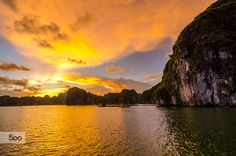 Sunset Halong Bay by gregoryboue #landscape #travel
