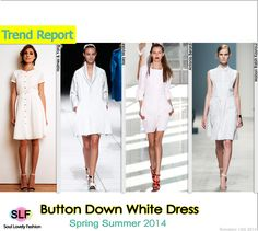 Button Down White #Dress #Fashion Trend for Spring Summer 2014 #spring2014 #trends