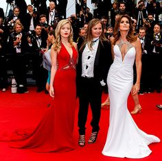 Georgia May Jagger, Eva Cavalli, and Cindy Crawford at the Cannes film festival