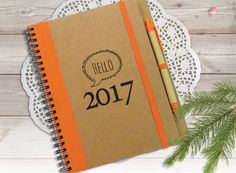 Hello 2017 Notebook To Do List Notebook Happy New by LooveMyArt