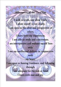 """shadowwolfguidence: """" This is a great little affirmation to say after doing a chakra meditation. I'm going to be doing this from now on :D """""""