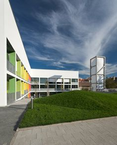 BAHCS Architects // clima tower and color scale at the Szent-Györgyi Albert Agora in Szeged // photo © Zsolt Frikker
