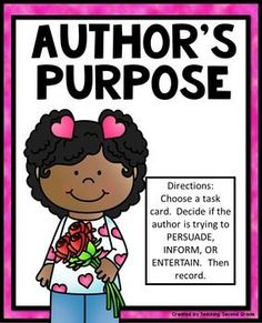 Author's+PurposeFebruaryOther+Author's+Purpose+Products:AUTHOR'S+PURPOSE+AUTHOR'S+PURPOSE++(THANKSGIVING)AUTHOR'S+PURPOSE++(CHRISTMAS)-------------------------------------------------------------------------------------------------AUTHOR'S+PURPOSE+CENTER:Directions:++Choose+a+task+card.