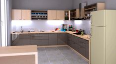 Different types of L-shaped modular kitchens available at Krios Kitchens.