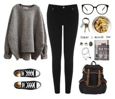 """College Kid"" by jocelynj17 ❤ liked on Polyvore featuring Converse, UO, CB2, Warehouse and Topshop"