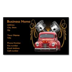 Flying Ford Business Card Template. I love this design! It is available for customization or ready to buy as is. All you need is to add your business info to this template then place the order. It will ship within 24 hours. Just click the image to make your own!