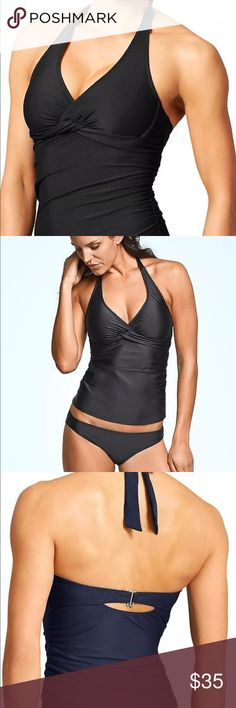 Athleta Tara Halter Tankini Top Black 34 B/C Tall Athleta Tara Halter Tankini Top in Black... Size 34 B/C Tall...New With Tags...Retail $72.00  Nothing wrong with it. Top only. Top is snug on me and that is why i am selling it. Small mark on inner label to prevent return. Athleta Swim Bikinis