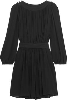 Black crinkled-georgette Slips on 100% viscose Dry clean ImportedSmall to size. See Size & Fit notes.