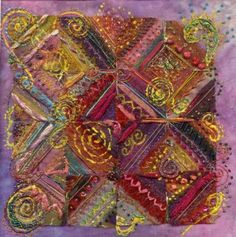 Indian Mosaic - Creative Kit - Stef Francis, World of Thread & Fabrics.  Beautiful colours.