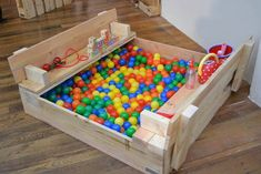 This could be a sandbox too, but the balls require less maintenance