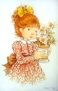 Sarah Kay illustration Holly Hobbie, Cute Images, Cute Pictures, Mary May, Dibujos Cute, Australian Artists, Cute Illustration, Fabric Painting, Clipart