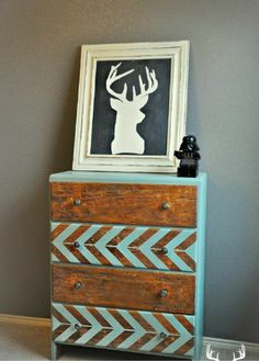 Love this design. Maybe with a walnut stain and a dark red for Jacobs dresser