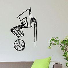 Wall Decal Vinyl Sticker Gym Sport Basketball Ball in Basket Decor Sb249 ElegantWallDecals http://www.amazon.com/dp/B011NMTEY6/ref=cm_sw_r_pi_dp_SyQPvb1RJ96C1