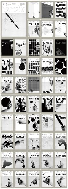 COMPOSITION / LAYOUT A series of almost 40 prints created to promote the University of Tama Art, commonly referred as Tamabi. Those ads were created by Kenjiro Sano, aka Mr Design. Layout Design, Graphisches Design, Book Design, Poster Layout, Design Poster, Print Layout, Typography Poster, Graphic Design Typography, Branding Design