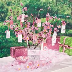 Cherry Blossom Wishing Tree Idea - OrientalTrading.com
