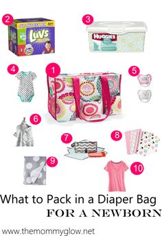 A list of what to pack in a diaper bag for a newborn. What are the essentials? And what can be left out? Find out more about what you need to pack.