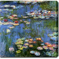 Claude Monet 'Water Lilies 1914' Oil on Canvas Art