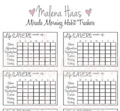 Miracle Morning Habit Tracker Stickers - Weekly Printables for Your Planner  Receive 3 File Formats:  PDF PNG JPG