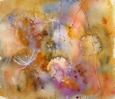 Wishing Weeds Mixed Media  - Wishing Weeds Fine Art Print
