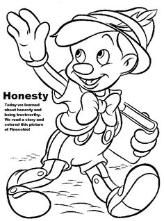 Honesty Coloring Page AZ Pages