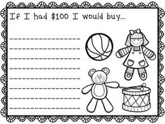 100th Day of School Writing Activities - 5 writing prompts for the 100th day of school (or all week long), and a 100 words activity.