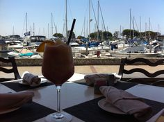 Frozen Bellini enjoyed bayfront at Sally's Seafood on the Water - Manchester Grand Hyatt San Diego
