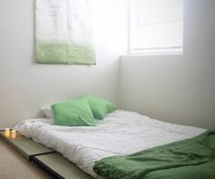 Modern Japanese Floor Futon On Tatami Mats