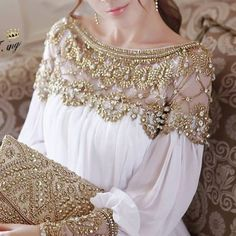 star style summer women long sleeve wedding dress white color royal nail beading set auger  dresses casual women clothing S M L $6,500.00