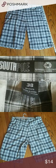 *SOUTHPOLE* MEN'S CHECKERED SHORTS Size 38 Mens Shorts. Bought them for my son. He may have worn them once. New condition. South Pole Shorts