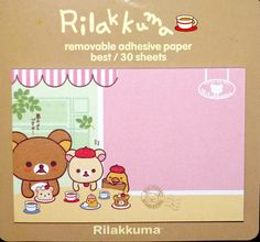 Kawaii RILAKKUMA Japanese BEAR cartoon CAFÉ sticky notes memo pad stationery by MyChildhoodDream on Etsy https://www.etsy.com/listing/249484076/kawaii-rilakkuma-japanese-bear-cartoon