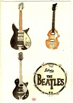 Their Fab Four Instruments  by plop