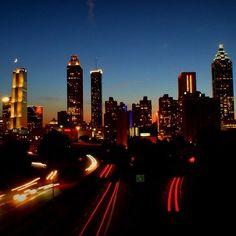 Shot of the Atlanta Skyline from the Jackson Street Bridge