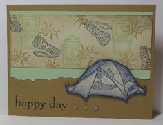 Created with Stampin' Up! supplies: The Great Outdoors stamp set, Happy Day stamp set, candy dots