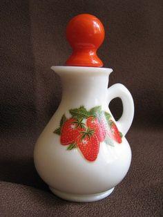 Vintage Avon Strawberry Bottle   Strawberry Milk Bath!