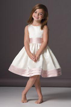 Simple Ball Gown Straps Knee-length Satin Flower Girl Dresses