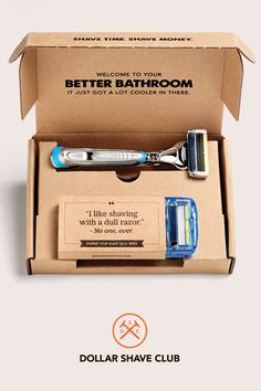 Give a birthday membership in Dollar Shave Club. Amazing razors delivered every month is like having 12 birthdays a year. Gift the Club.