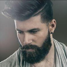 A full #beard works really with medium length hair on top.  #beards