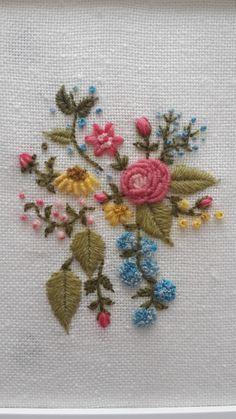 brezilya nakışı - çiçekler brazilian embroidery- flowers