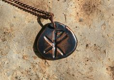 Handmade Copper Christian Chi Rho Pendant by OakTreeJewelers, $35.00