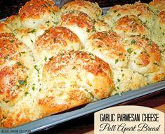 Garlic-Parmesan Cheese Pull Apart Bread [Using Rhodes Frozen Yeast Rolls]