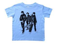 Baffle Brooklyn Kids Shirt//BKLYN//Unisex Raglan Baseball Tee for Kids//NYC 2T, Heather /& Blue