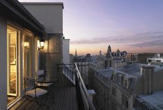 Sunset from a Suite Terrace at Hotel Keppler in Paris