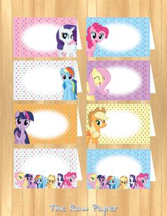 INSTANT DOWNLOAD  My Little Pony Food Tent por TheRawPaper en Etsy