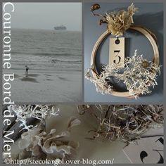 Pendant les vacances, quelques promenades les pieds dans l'eau... et quelques trouvailles de la mer... Un cercle à broder comme support, (récupéré ou/et chiné), mes trouvailles en bord de mer, quelques perles coquillages, un bouton nacré nuancé et mon...