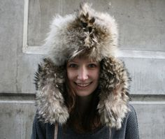 WILD COYOTE Fur Hat with Tail and Head  80s  by atlasclothingco, $200.00
