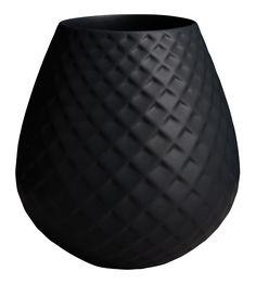 Iwi Vase en céramique noir effet écaille 14,5cm (www.habitat.fr)