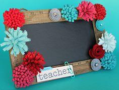 Personalized Teacher Gift, Chalkboard Sign/ Teacher Name Sign/Denim Blues