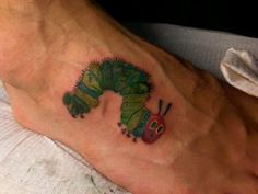 Rupsje Nooitgenoeg - The Very Hungry Caterpillar done by Beard Weird #tattoo…