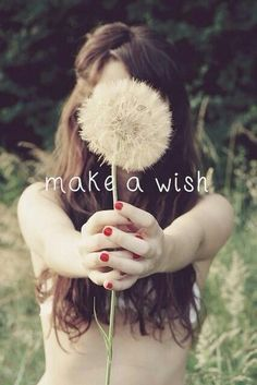 Make a wish repinned by the-glitter-side.blogspot.com